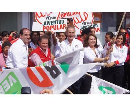 inician campaña candatos por los distritos de pachuca