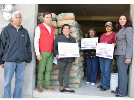 beneficiados programa de piso firme en tizayuca
