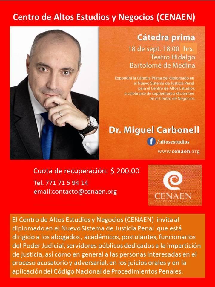invitacion conferencia miguel carbonell