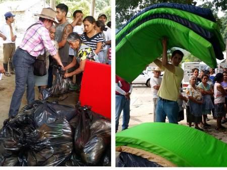 apoyo a damnificados por lluvias en la huasteca