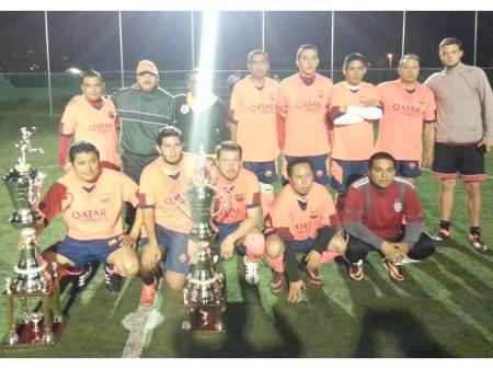 PGR se corona campeón del Torneo de Futbol 7 de Dependencias