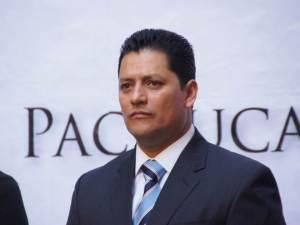 el secretario general del ayuntamiento de Pachuca,  Hugo Espinosa Quiroz