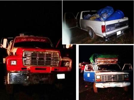 policias-estatales-aseguran-cuatro-vehiculos-y-combustible-en-singuilucan