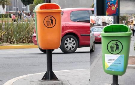 Ayuntamiento de Pachuca coloca cestos para basura en el primer cuadro de la ciudad.jpg