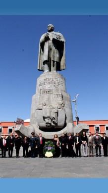 Conmemoran el 211º aniversario del natalicio de Benito Pablo Juárez García