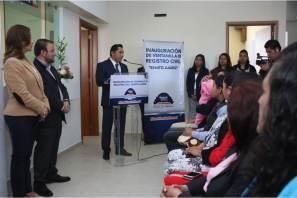 "Inaugura Raúl Camacho, ventanilla del Registro del Estado Familiar ""Benito Juarez"" en La Providencia"