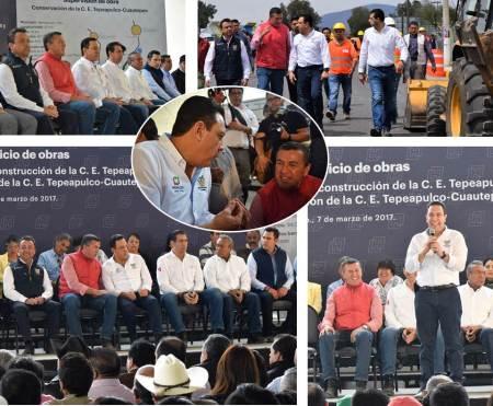 Omar Fayad reconstruccion carretera Tepeapulco Santo Tomás