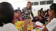 Sayonara Vargas visita la Escuela Secundaria Técnica 71 de Mineral de la Reforma1