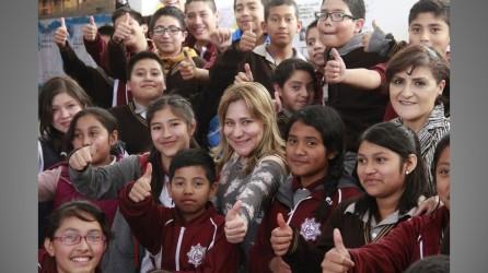Sayonara Vargas visita la Escuela Secundaria Técnica 71 de Mineral de la Reforma3