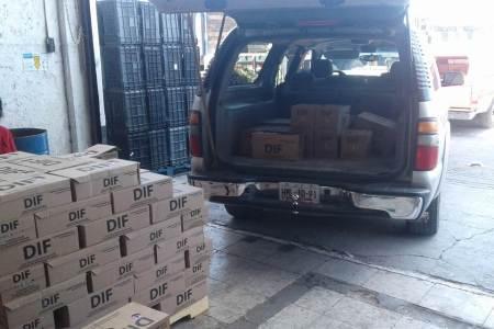 DIF Hidalgo recibe donación de leche de la Fundación LALA, para apoyar sectores vulnerables