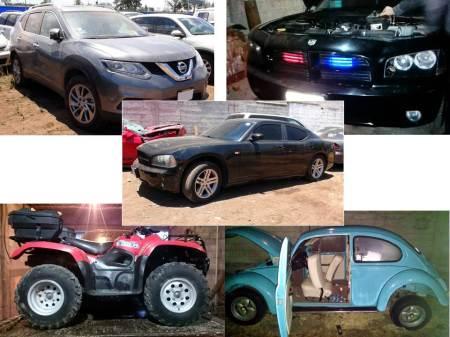 En cateos recupera automóviles, motocicletas y tractocamiones robados; aprehenden a seis