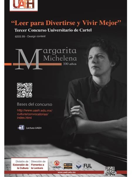 Lanza UAEH concurso de cartel en honor a Margarita Michelena