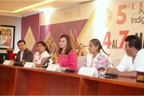 Nuvia Mayorga encabeza presentación de la 5ª Expo de los Pueblos Indígenas