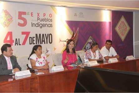Nuvia Mayorga encabeza presentación de la 5ª Expo de los Pueblos Indígenas4