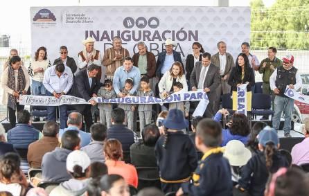 Raúl Camacho Baños inaugura el Parque Recreativo 2
