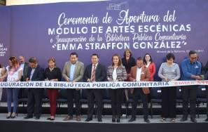 Raúl Camacho inaugura módulo de Artes Escénicas y Biblioteca Comunitaria del CEMART3