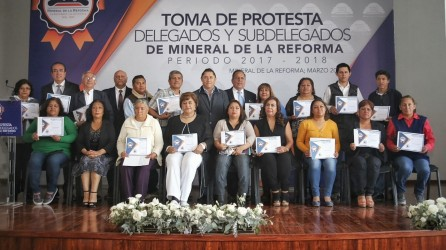 Segundo bloque de delegados rinden protesta en Mineral de la Reforma 5