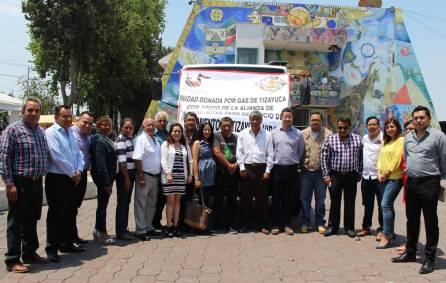 ATTAC dona al Ayuntamiento de Tizayuca un camión1