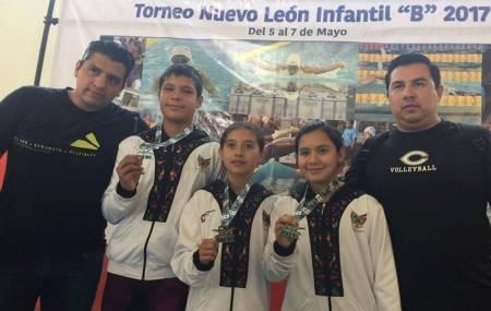 Nadadores de Hidalgo brillan en el Torneo Nuevo León Infantil B