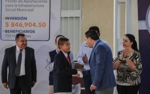 """Rául Camacho entrega techumbre en Primaria """"Gonzalo Meníndez"""" y una inversión de más de 7 mdp en obras en Carboneras1"""