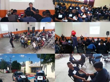 Grupo especial de género de la SSPH sensibiliza a policías municipales