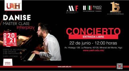 Ofrecerá concierto en UAEH pianista italiano Vincenzo Danise