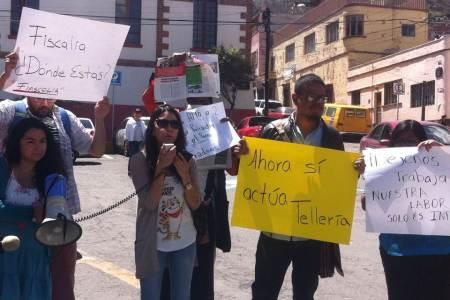 protesta por agresion a periodistas. Foto Red de Periodistas
