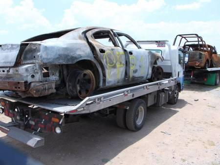 Retiran patrullas dañadas en Ixmiquilpan