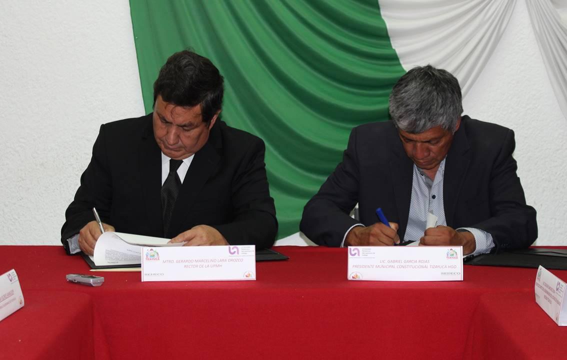 Ayuntamiento de tizayuca y la upmh firman convenio de for Fuera de convenio 2017