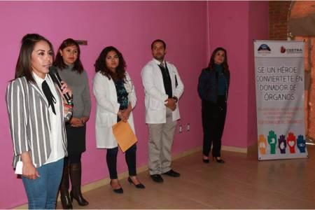 Concientiza Mineral de la Reforma a servidores públicos respecto a donación de órganos