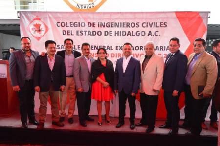 José Rubén Pérez Ángeles, nuevo presidente del Colegio de Ingenieros Civiles del Estado de Hidalgo