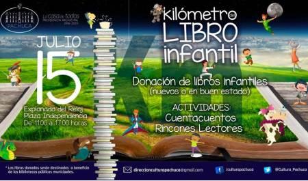 Pachuca realizará este fin de semana, el Kilómetro del libro infantil