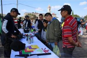 Policía estatal realiza actividades sociales en localidad de Azoyatla
