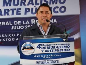 Raul Camacho Inaugura el 4to Encuentro Internacional de Muralismo y Arte Público en Mineral de la Reforma 1