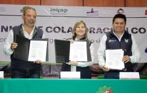 Sayonara Vargas atestigua firma de convenios de colaboración UPFIM, SEDAGRO, PCCyC Y CIAD2