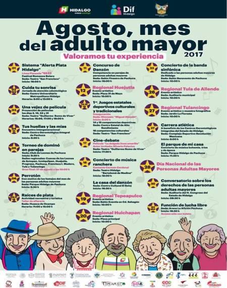 Sedeso presenta cartel de actividades por mes de las y los adultos mayores1