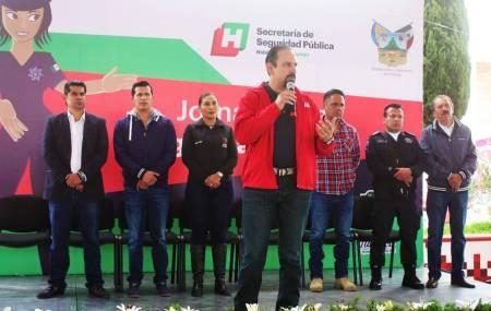 Seguridad Pública de Hidalgo acerca actividades a ciudadanos de Tlaxiaca1