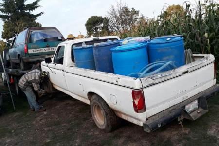 Tres detenidos, vehículos y más de 6 mil litros de combustible asegurados, resultado de operativo preventivo de policía estatal