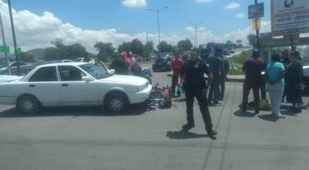 Una mujer motociclista lesionada al ser atropellada en el municipio de Tizayuca