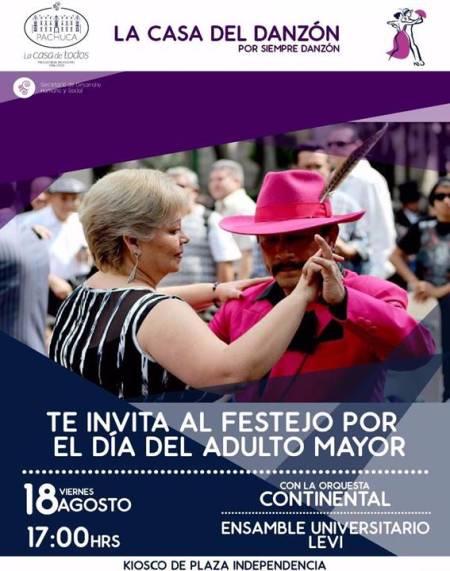Alcaldía de Pachuca invita a festejar el Día del Adulto Mayor con danzón