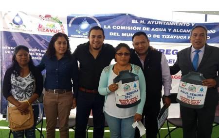 """CAAMTH Continúa apoyando a la población con el Programa """"Agua Segura""""1.jpg"""