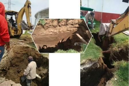 CAAMTH ejecuta ampliación de drenaje sanitaria en el Bioparque de Convivencia Tizayocan