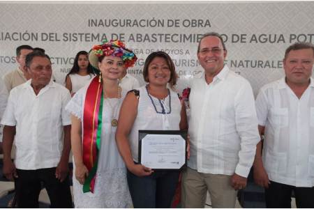 CDI entrega sistema de agua potable en Quintana Roo, para beneficio de más de 343 familias indígenas
