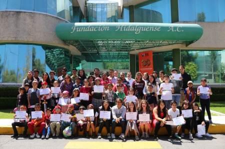 Clausuran curso de verano para niños en Fundación Hidalguense