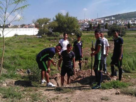 """Con programa """"Arbolado  urbano"""", se reforestan espacios públicos en Mineral de la Reforma  2.jpg"""