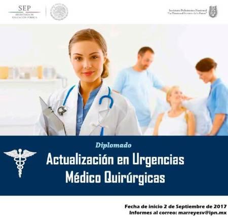 Convoca IPN a Diplomado en Urgencias Médico Quirúrgicas
