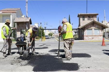 Inician trabajos de bacheo en Pachuca