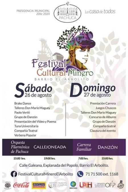 Invita Alcaldía de Pachuca al Festival Cultural Minero