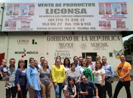 Liconsa Hidalgo apertura punto de venta de producto tetra pak en la Central de Abasto de Pachuca.jpg