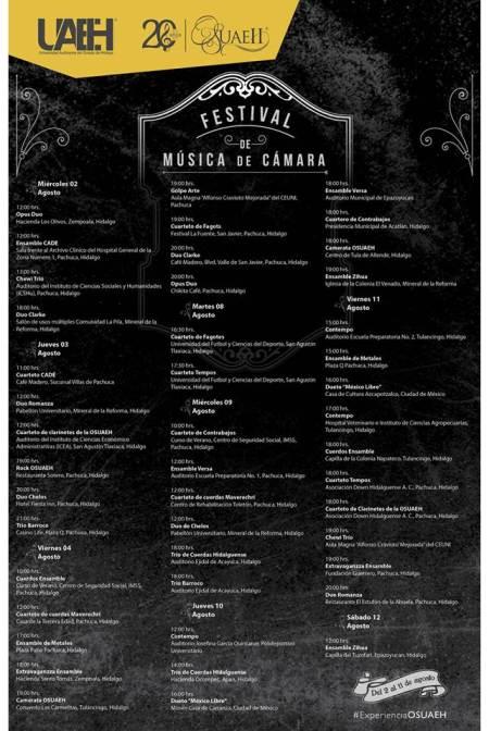 OSUAEH realiza Segundo Festival de Música de Cámara